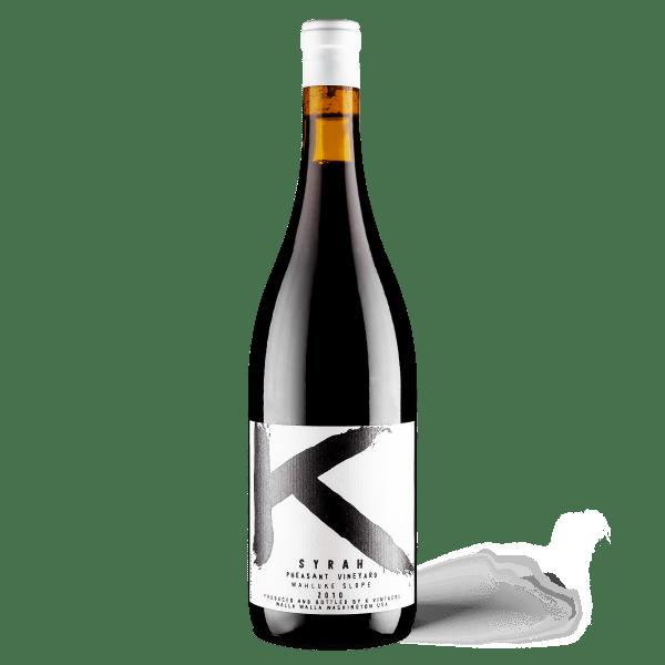 K Vintners, K Syrah Pheasant Vineyard, 2010